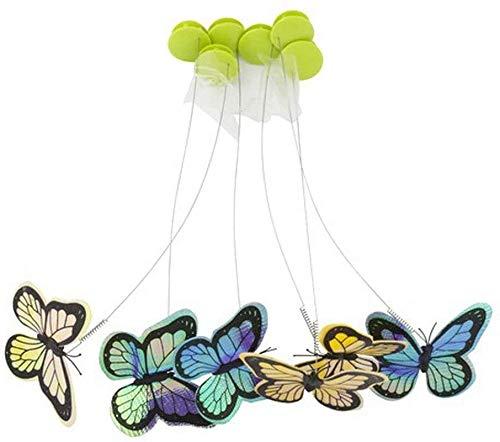 ALL FOR PAWS Juguete interactivo de mariposa para gato con dos mariposas intermitentes de repuesto (volteo de insectos rerelleno-6 unidades)