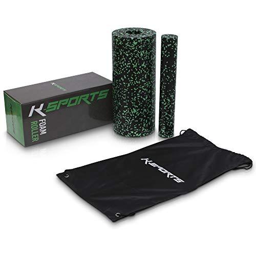 K-Sports 2er Set Faszienrolle   ultraleichte Foam Roller   2 In 1 inklusive Cooler Gratistasche   Aus recyclebarem EPP Material