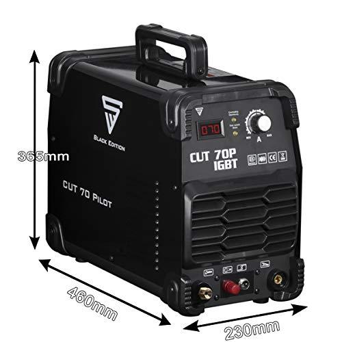 STAHLWERK CUT 70 P IGBT Plasmaschneider mit 70 Ampere, Pilot-Zündung, bis 25 mm Schneidleistung, für Flugrost geeignet, weiß, 7 Jahre Garantie - 4