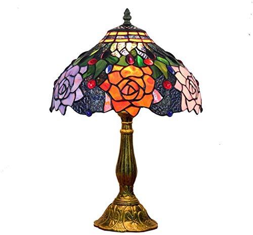 AWCVB Escritorio De Lámpara De Mesa En Estilo Tiffany Junto A Lámparas Sala De Estar Tradicional para Pedestal De Dormitorio