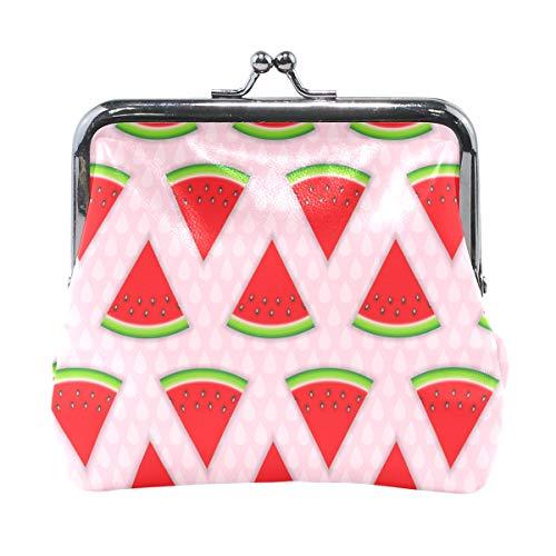 MONTOJ, abstraktes natürliches Sommer-Hintergrund, mit Wassermelonen-Geldbörse für Kleingeld