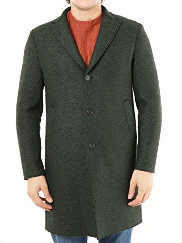 EWOLUZIONE Mod. CLAUS-CA25 mantel, gemalen, wol, zwart