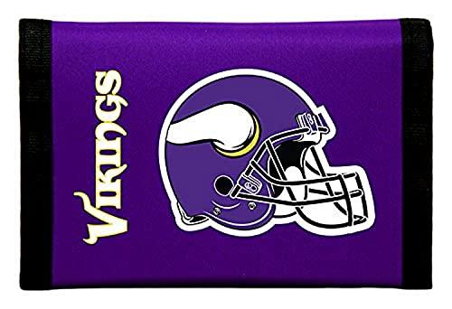 Unbekannt Faltportemonnaie aus Nylon, Motiv: NFL, Herren, NTR3102, violett, 5