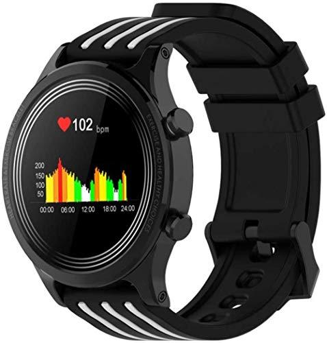 Reloj Inteligente Hombres Mujeres Impermeable IP68 Smartwatch Pantalla Climática Frecuencia Cardíaca Presión Arterial Perseguidor de Salud Sangre Reloj Deportivo-B