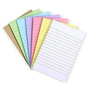 TOYANDONA 7 Blocs de Notas Adhesivas Forradas Notas Autoadhesivas de Color Caramelo Notas Memo para Oficina Escuela Y…