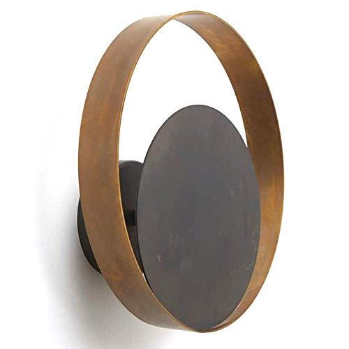Dightyoho Lámpara Escritorio Lámpara de Pared de Cobre lámpara de Lujo lámpara de Pared de ba?o Moderna Junto a la Cama Pasillo Trasero 25 * 2.8 * 8.2 cm círculo Completo Trasero Creativo