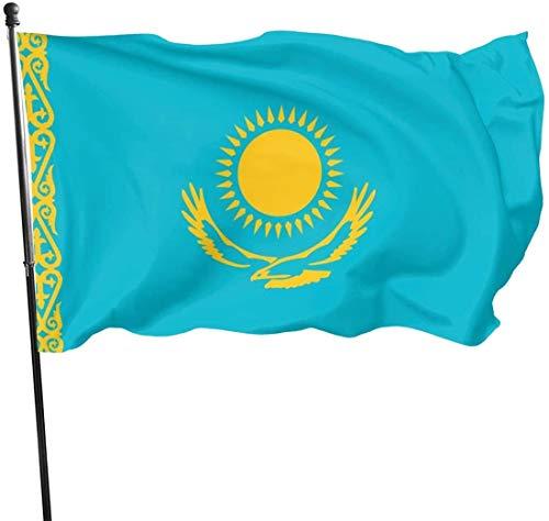 Viplili Banderas, Kazakhstan Flag Home Garden Flag Polyester Flag Indoor/Outdoor Wall Banners Decorative Flag 3x5 Foot