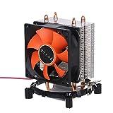 QWLHZW Tubos hidráulicos CPU Cooler heatpipe silenciosos Ventiladores del disipador de Calor del radiador Dos Fino de Cobre de Calor for Intel Core AMD Sempron Plataforma