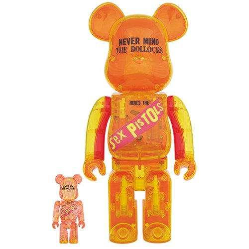 BE@RBRICK Sex Pistols Clear Ver.100% & 400% ベアブリック セックス・ピストルズ クリアver.