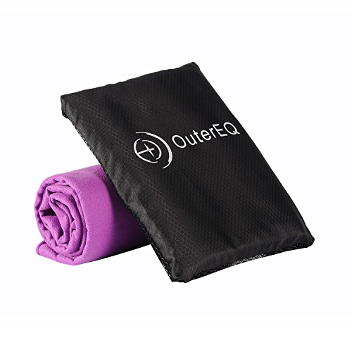 "OuterEQ Quick Dry Towel Microfiber Travel Towels (Purple, 20"" x 40"")"