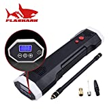 Flashark Rechargeable Cordless Tire Inflator,120PSI, 12V Wireless Digital Tyre Pump Handheld Air Compressor, Portable Air Pump with Digital Display with LED Light for Car Bicycle Tires