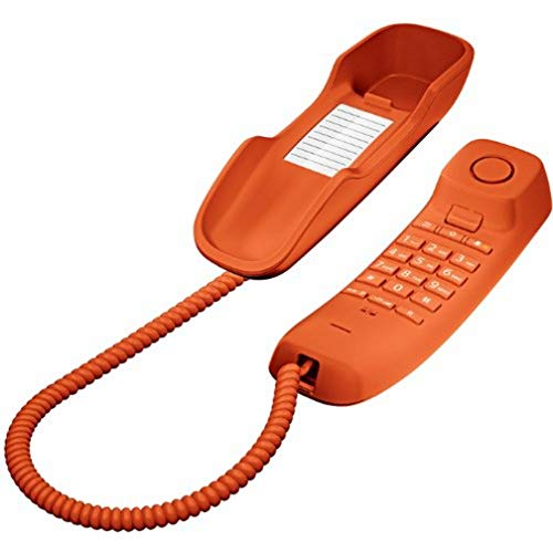Gigaset DA210 - Teléfono Fijo con Cable, Color Naranja