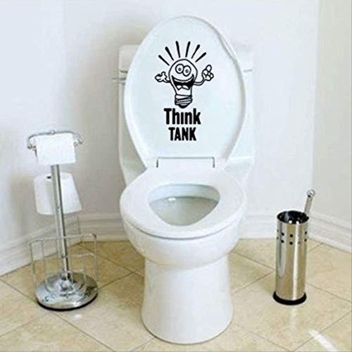 Autocollants De Toilette Think Tank Creative Drôle Salle De Bains Stickers Muraux Décor À La Maison Noir 26.3 * 15.6Cm