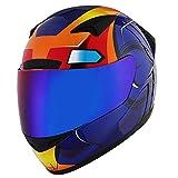 1STORM Motorcycle Bike Full FACE Helmet Booster Iron Blue