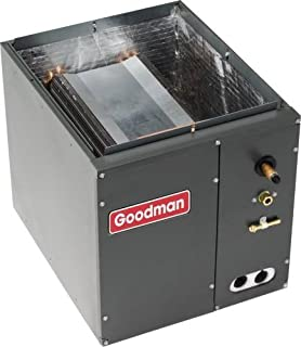 Goodman 1.5 to 2.0 Ton - CAPF1824A6 - W 14 x D 21 x H 18 - Cased Evaporator Coil - Goodman CAPF Cased Upflow/Downflow air conditioner condenser coil is made for split system air conditioners and heat pumps.