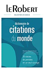 Dictionnaire de citations du monde de Florence Montreynaud