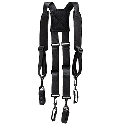 AISENIN H Harness Suspenders Police Suspenders for Duty Belt with Padded Adjustable