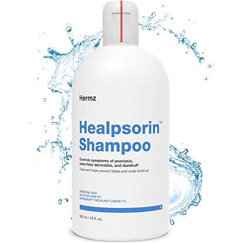 Healpsorin Psoriasis-Shampoo 500 ml mit Salicylsäure - Therapeutische Behandlung - Kopfhautjucken und Schuppenbildung - Seborrhoischer Dermatitis - Anti-Schuppen - Trockene Kopfhaut
