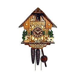 August Schwer Cuckoo Clock Little Black Forest House 1.0260.01.C