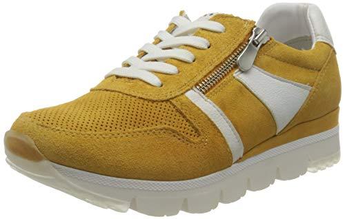 MARCO TOZZI 2-2-23754-26 Damen Leder Sneaker, Zapatillas Mujer, Saffron Comb, 39 EU