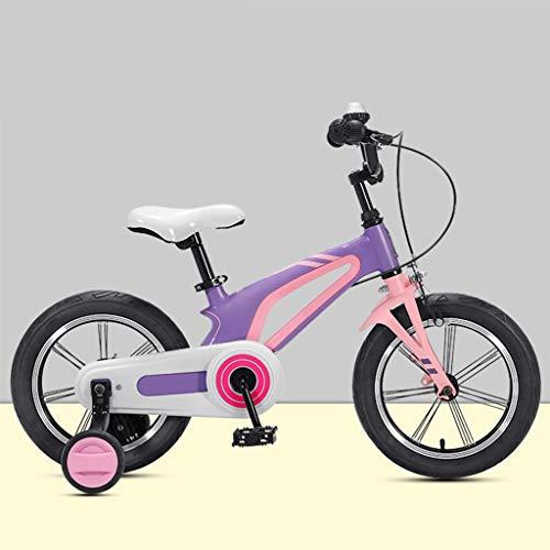 OFFA Kinderfahrrad Junge Mädchen Freestyle Fahrrad 14 16 Zoll Mit Stützräder,Kinder Fahrrad Baby Kleinkinderfahrrad 3-8 Jährige Kinderfahrrad, Magnesium Legierung Rahmen Bike Off-Road Fahrräder