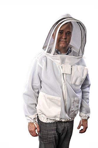FOREST BEEKEEPING Supply Ventilated Jacket - Clear View Fencing Veil YKK Brass Zippers Ultra Light...