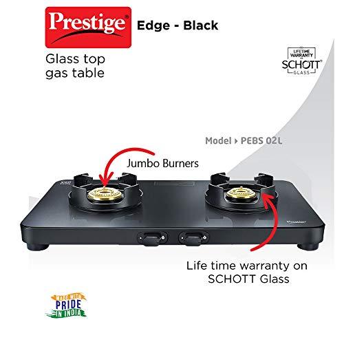 Prestige Edge Gas Table PEBS 02 - Black