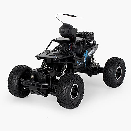 Weaston Vehículo De Escalada Todoterreno con Vídeo, Cámara FPV HD RC Monster Buggy, Coche De Control Remoto Eléctrico De 2,4 G, Regalo De Cumpleaños De Navidad para Niños, Niños, Adolescentes