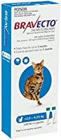 BRAVECTO Spot On for Cats 2.8 to 6.25 Kg Blue Pack 2 Pipettes