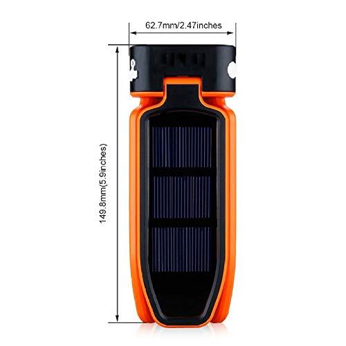 Luce Da Campeggio Lanterna Deformabile Solare Portatile Usb Ricaricabile Pieghevole Da Esterno Per Tende Da Campeggio Lanterne Lampada Torcia Pesca Notturna Arancione
