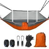 BestCool Outdoor Travel Hamaca Camping Hamaca con Mosquitera Portátil Nylon Hamaca para Viajes Senderismo Beach Garden 300 kg Capacidad de carga 260 x 140 cm