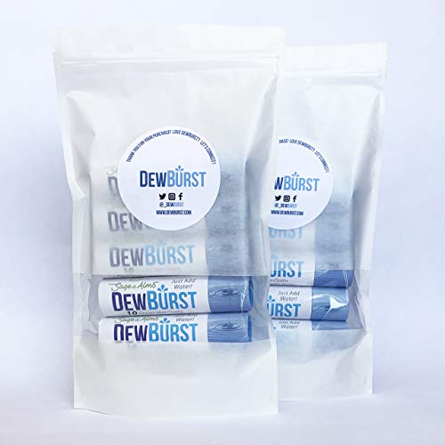DewBurst Wipes - Dry to Wet Wipes - 10 Tubes - 100 Cloths - DewBurst is the only biodegradable and compressed dry to wet cloth in a cardboard tube - A little water will Dew (10)