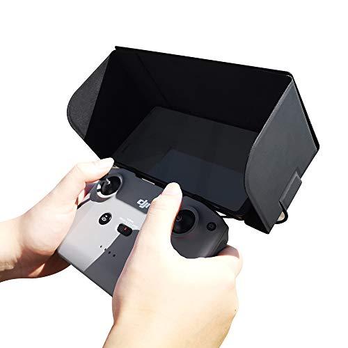Linghuang Control Remoto Smartphone Sombrilla para DJI Mini 2 Mavic Air 2 Teléfono Móvil Toldo Capota Pantalla Plegable Ancho 95mm o menos apoyo