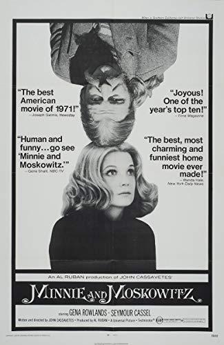 Berkin Arts Cartel de película Lámina giclée sobre Lienzo-Cartel de la película Reproducción Decoración de Pared(Minnie y Moskowitz 2) #XFB