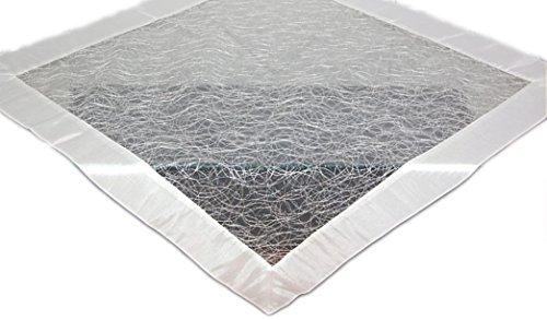 Tischdecke 85x85 cm Organza Weiß Fizz Satin Organzadecke Mitteldecke Decke