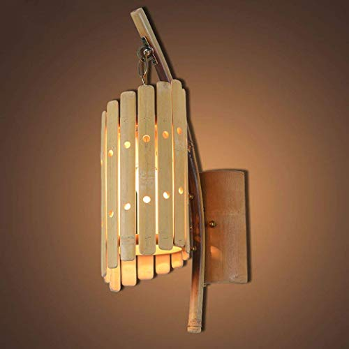 WHKHY The Bamboos Applique , Retro Loft Restaurant Store Applique Murale Corridor Walking Illuminateation Light Dress Shop CAF & Eacute; Les Lampes d'éclairage avec E27, Hauteur 51 cm Nouveau,51cm