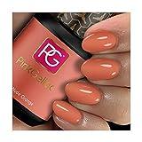 Pink Gellac 106 Nude Orange UV Nagellack. Professionelle Gel Nagellack shellac für mindestens 14 Tage perfekt glänzende Nägel