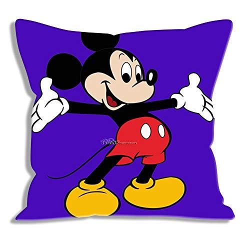 Funda de Almohada Estampada Disney: Mickey, Fundas de Almohada de Retrato Fundas de Almohada para Regalos Fundas de Almohada con Cremallera Fundas para cojín / Oficina / Sofá / Dormitorio Decoración