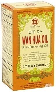 Die Da Wan Hua Oil - Pain Relieving Oil - 1.7 Fl. Oz. (50 Ml) - 3 Bottles