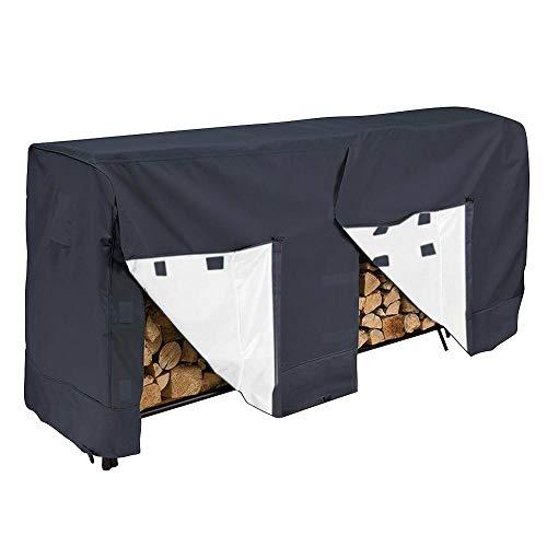 Couverture de support de bûche, couverture imperméable à l'eau de couverture de bois de chauffage de couverture de support de bois de chauffage imperméable pour le protecteur extérieur (8FT)