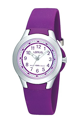 Lorus Mädchen-Armbanduhr Kids Analog Quarz mit Kautschukband R2313FX9