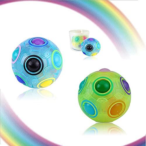 2PCS Regenbogen Ball Magic Ball Spielzeug Puzzle...