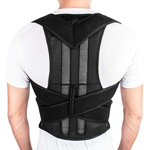 Fully Adjustable Magnetic Orthopedic Back Brace Posture Corrector for Men Women w Lumbar Support Belt - Shoulder, Neck, Upper Lower Back Pain Relief - Best Straightener Trainer