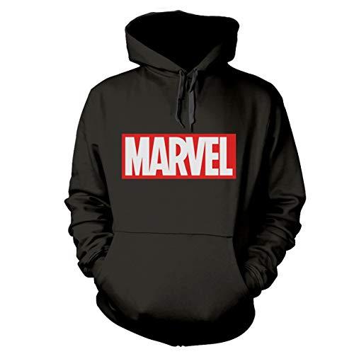 Marvel Comics X-Men Avengers Spiderman Hulk Oficial Sudaderas Capucha Hombre (Large)