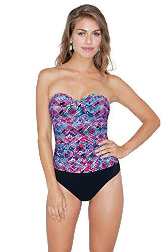 Profile by Gottex Women's One Piece Bandeau (D Cup) Swimsuit Multi 6D