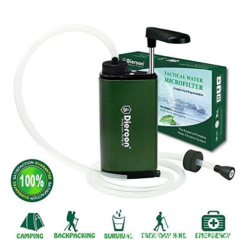 POSPORT Mini Wasserfilter Wasser Filter Set 3000L, Entfernt Bakterien und Protozoen für Outdoor Camping Wasseraufbereitung, 1er Pack