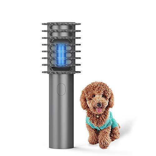 Kedelak Handheld t Kamm Tierhaarbürste UV- Hundebürste Massagebürste mit Desinfektion UV-Licht