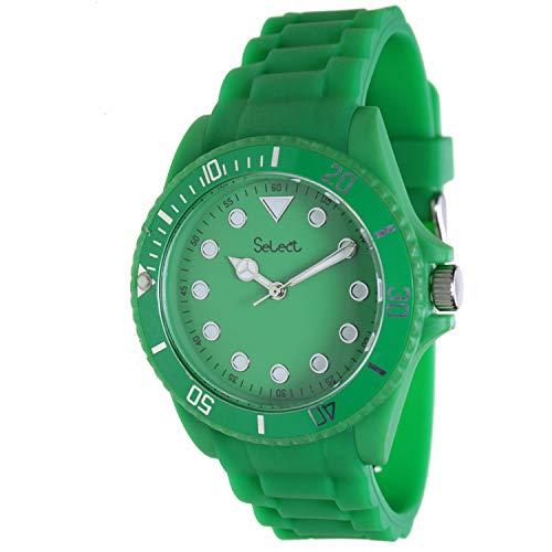 Select Lw-20-16 Reloj Analogico para Chico Caja De Resina Esfera Color Verde