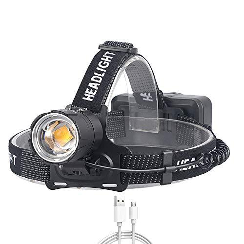 WXH-00 8000 Lumens Featlight XHP70 La Linterna de Zoom de Campamento de Pesca Amarilla más Potente Utiliza 3 * 18650 baterías (baterías no Incluidas)