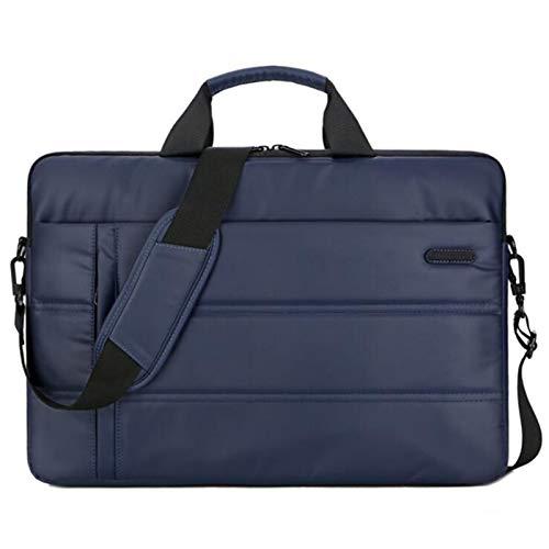 JiuRui Custodie e Cover per MacBook 15.6 15 Pollici, Donne Uomini Impermeabili Poliestere Borse per Laptop Borsa a Spalla a Spalla per Xiaomi Lenovo dell ASUS (Colore : Blu, Dimensione : 15 inch)